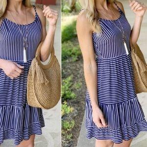 Navy Striped Cami Dress
